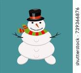 snowman christmas cold winter...   Shutterstock .eps vector #739366876