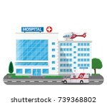 hospital building  medical icon.... | Shutterstock .eps vector #739368802