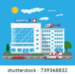 hospital building  medical icon.... | Shutterstock .eps vector #739368832