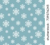 snowflakes seamless pattern.... | Shutterstock .eps vector #739376245