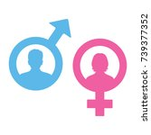 male and female symbols | Shutterstock .eps vector #739377352