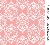 pink and white vintage... | Shutterstock .eps vector #739378012