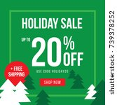 holiday up to 20  off sale... | Shutterstock .eps vector #739378252