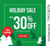 holiday up to 30  off sale... | Shutterstock .eps vector #739378276