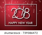 2018 happy new year background... | Shutterstock .eps vector #739386472