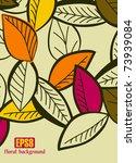 floral background  eps8 | Shutterstock .eps vector #73939084