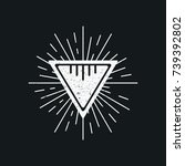 triangle vintage logo   Shutterstock .eps vector #739392802