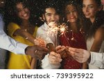 holiday background with... | Shutterstock . vector #739395922