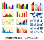 business charts and icons   Shutterstock .eps vector #73939627