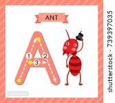letter a uppercase cute...   Shutterstock .eps vector #739397035