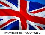 united kingdom flag. flag of... | Shutterstock . vector #739398268