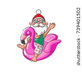 Santa Claus With Inflatable...