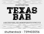vintage font typeface...   Shutterstock .eps vector #739403056