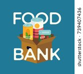 food bank simple concept... | Shutterstock .eps vector #739407436