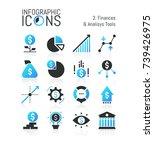 collection of modern finance... | Shutterstock .eps vector #739426975