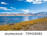 beautiful view of tso moriri ... | Shutterstock . vector #739428382