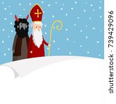 st. nicholas with devil ... | Shutterstock .eps vector #739429096