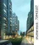 buildings made in 3d | Shutterstock . vector #73943107
