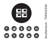 set of 11 structure icons set... | Shutterstock .eps vector #739432336