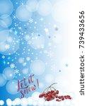 vector calligraphy. winter... | Shutterstock .eps vector #739433656