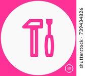 tools minimal vector icon....   Shutterstock .eps vector #739434826