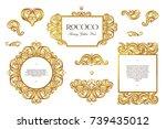 vector set with vintage frames  ... | Shutterstock .eps vector #739435012