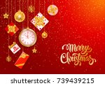 christmas luxury design with... | Shutterstock .eps vector #739439215