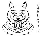 werewolf icon | Shutterstock .eps vector #739439626