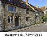 16th century grade ii listed... | Shutterstock . vector #739440616