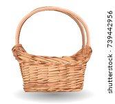 wicker basket icon vector... | Shutterstock .eps vector #739442956