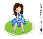 vector abstract illustration of ... | Shutterstock .eps vector #739443586