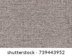 gray linen textile seamless...   Shutterstock . vector #739443952