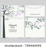 vector illustration of trees... | Shutterstock .eps vector #739444495
