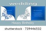 inscription   wedding  happy...   Shutterstock .eps vector #739446532