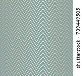 trendy simple seamless zig zag... | Shutterstock .eps vector #739449505