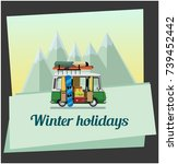 winter holidays. winter... | Shutterstock .eps vector #739452442