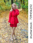 portrait of beautiful blonde... | Shutterstock . vector #739456252