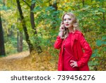 portrait of beautiful blonde... | Shutterstock . vector #739456276
