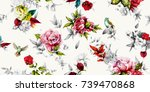 bright wide vintage seamless... | Shutterstock .eps vector #739470868