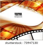 curved photographic film. vector | Shutterstock .eps vector #73947130