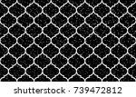seamless black and white grunge ... | Shutterstock .eps vector #739472812