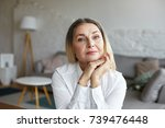 head and shoulders of beautiful ... | Shutterstock . vector #739476448