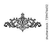 premium vintage baroque frame... | Shutterstock .eps vector #739476652