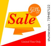 sale discount background for... | Shutterstock .eps vector #739487122