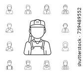 construction worker woman...   Shutterstock .eps vector #739489552