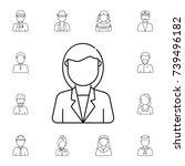 business woman avatar. set of... | Shutterstock .eps vector #739496182