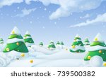 christmas background. winter... | Shutterstock .eps vector #739500382