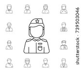 military woman avatar. set of... | Shutterstock . vector #739503046
