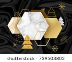winter minimalistic poster in... | Shutterstock .eps vector #739503802
