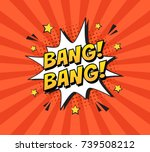 stylish colorful retro comic... | Shutterstock .eps vector #739508212